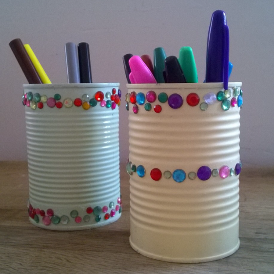 Get creative with your recycle bin week 2 tins hey ali for Crafts from recycled stuff