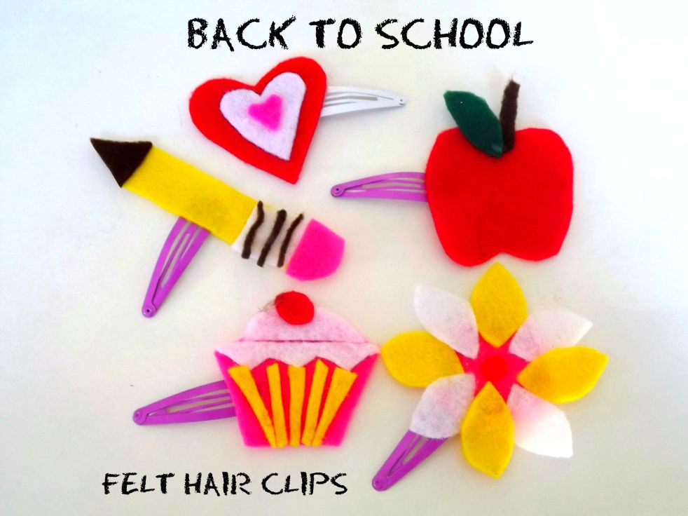 back to school felt clips