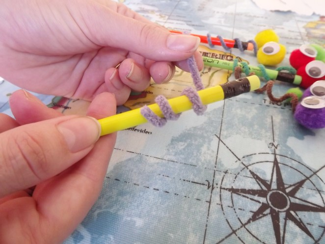 Pencil snake back to school craft