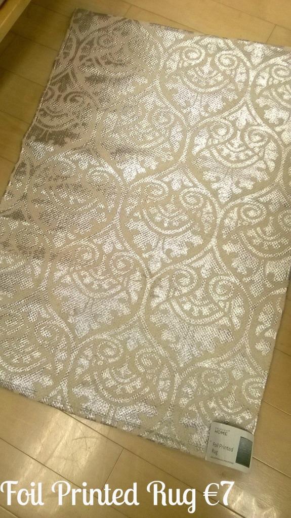 Penneys Primark gold rug
