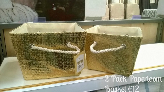 Penneys Primark Gold Baskets