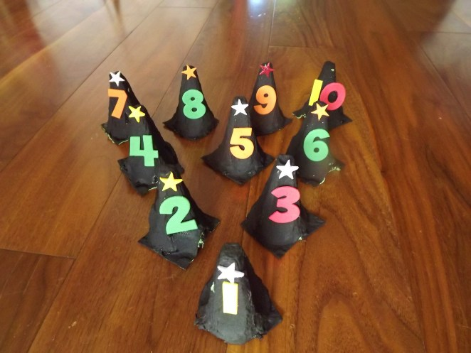 Witches Hat Bowling Game Halloween Craft