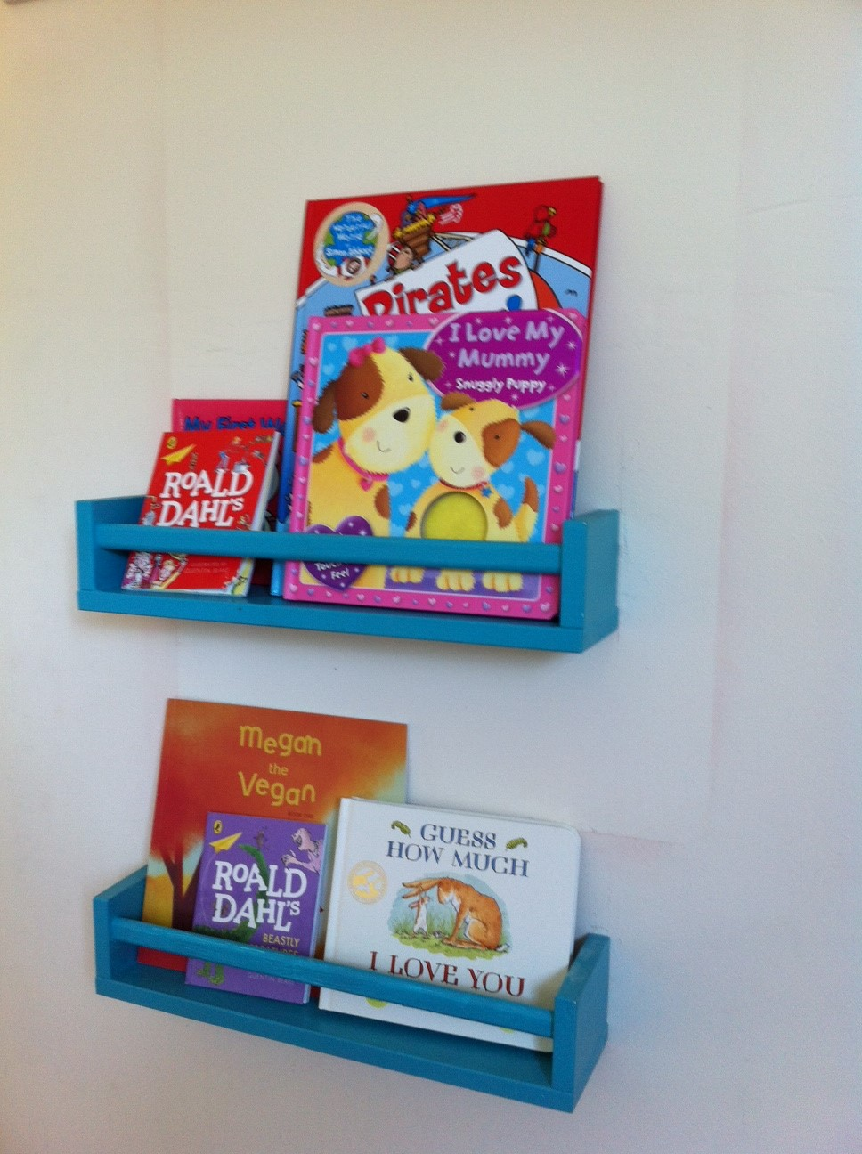 Ikea Spice Rack turned into a childrens book shelf