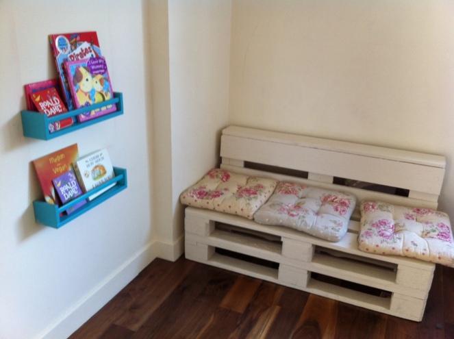 Turning an Ikea spice rack into a book shelf